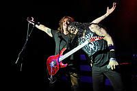 LONDON, ENGLAND - MARCH 11: Dave 'The Snake' Sabo and ZP Theart of 'Skid Row' performing at Shepherd's Bush Empire on March 11, 2018 in London, England.<br /> CAP/MAR<br /> &copy;MAR/Capital Pictures