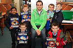 "Robbie Keane, St. Joseph's HSCL with students from St.Patricks at the ""Drogheda Counts"" workshop in the Library...Photo NEWSFILE/Jenny Matthews..(Photo credit should read Jenny Matthews/NEWSFILE)"