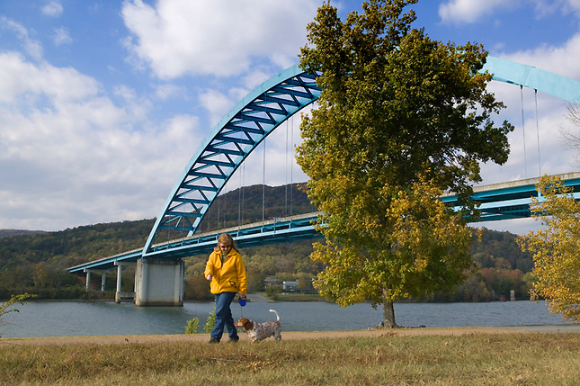 South Pittsburg Bridge on Tennessee River