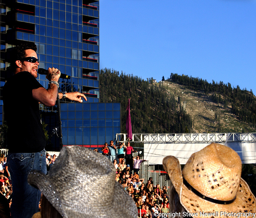 Gary Alan with Rascal Flats performing at Harvey's Casino in Lake Tahoe.