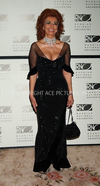 WWW.ACEPIXS.COM . . . . . ....NEW YORK, MARCH 7, 2006....Sophia Loren at The Russian National Orchestrea's 15th Anniversary Gala.....Please byline: KRISTIN CALLAHAN - ACEPIXS.COM.. . . . . . ..Ace Pictures, Inc:  ..Philip Vaughan (212) 243-8787 or (646) 679 0430..e-mail: info@acepixs.com..web: http://www.acepixs.com