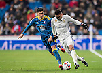 Carlos Henrique Casemiro (r) of Real Madrid battles for the ball with Pedro Pablo Hernandez of RC Celta de Vigo during their Copa del Rey 2016-17 Quarter-final match between Real Madrid and Celta de Vigo at the Santiago Bernabéu Stadium on 18 January 2017 in Madrid, Spain. Photo by Diego Gonzalez Souto / Power Sport Images