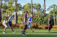 Keegan Bradley (USA) and Emiliano Grillo (ARG) depart the number 2 tee box during round 1 of the Honda Classic, PGA National, Palm Beach Gardens, West Palm Beach, Florida, USA. 2/23/2017.<br /> Picture: Golffile | Ken Murray<br /> <br /> <br /> All photo usage must carry mandatory copyright credit (&copy; Golffile | Ken Murray)