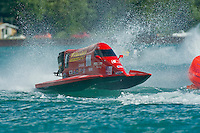 8-10 August 2008  Algonac, MI USA.Jose Mendana's Grand Prix/Mercury races through the rough water..©F.Peirce Williams 2008