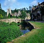 The village of Castle Combe, Wiltshire, England