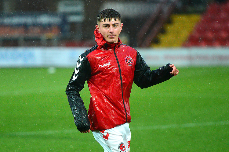 Fleetwood Town's Ryan Rydel warms up<br /> <br /> Photographer Richard Martin-Roberts/CameraSport<br /> <br /> The EFL Sky Bet League One - Saturday 15th December 2018 - Fleetwood Town v Burton Albion - Highbury Stadium - Fleetwood<br /> <br /> World Copyright © 2018 CameraSport. All rights reserved. 43 Linden Ave. Countesthorpe. Leicester. England. LE8 5PG - Tel: +44 (0) 116 277 4147 - admin@camerasport.com - www.camerasport.com