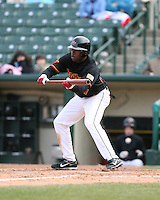 2007:  Denard Span of the Rochester Red Wings in a game at Frontier Field during an International League baseball game. Photo By Mike Janes/Four Seam Images