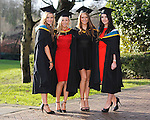 REPRO FREE<br /> 21/01/2015<br /> Fiona Lowe and Grace Molloy, Carrick on Shannon, Co. Leitrim, Ruth Storan, Ballyburke, Co. Galway and Amy Corbett, Headword, Co. Galway who graduated with Masters in Arts and Psychology as the University of Limerick continues three days of Winter conferring ceremonies which will see 1831 students conferring, including 74 PhDs. <br /> UL President, Professor Don Barry highlighted the increasing growth in demand for UL graduates by employers and the institution&rsquo;s position as Sunday Times University of the Year. <br /> Picture: Don Moloney / Press 22