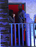 "Khloe Kardashian & Lamar Odom wait for Weezer  to perform live at The Axe Music ""One Night Only"" Concert series,Weezer headlines & takes over The Dunes Inn Motel in Hollywood, California on September 21,2010                                                                               © 2010 DVS / RockinExposures"