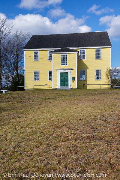 Alna Meeting House during the autumn months. Located in Alna, Maine USA.This Meetinghouse is listed on the National Register of Historic Places.