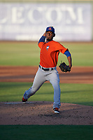 St. Lucie Mets pitcher Carlos Hernandez (43) during a Florida State League game against the Bradenton Barbanegras on July 27, 2019 at LECOM Park in Bradenton, Florida.  Bradenton defeated St. Lucie 3-2.  (Mike Janes/Four Seam Images)
