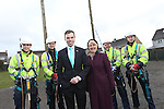 BT Wales Apprentices.<br /> Cross Hands ATE<br /> Apprentices Lewis Evans, Sam Jenkins, Ben Howe and  Nathan Brooks with Deputy Minister for Skills and Technology Ken Skates and Ann Beynon BT Wales Director.<br /> 03.03.14<br /> <br /> &copy;Steve Pope-FOTOWALES