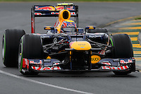 MELBOURNE, 16 March - Mark Webber of the Red Bull Racing Team during free practise session one of the the 2012 Formula One Australian Grand Prix at the Albert Park Circuit in Melbourne, Australia. (Photo Sydney Low / syd-low.com)