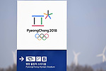 Olympic stadium signage. Opening Ceremony. Pyeongchang2018 winter Olympics. Olympic stadium. Pyeongchang. Republic of Korea. 09/02/2018. ~ MANDATORY CREDIT Garry Bowden/SIPPA - NO UNAUTHORISED USE - +44 7837 394578
