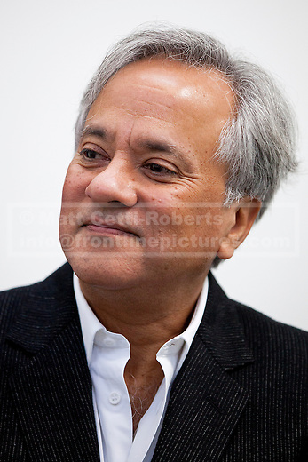 09/10/2012. LONDON, UK. Artist Anish Kapoor is seen at a press view ahead of his new exhibition at the Lisson Gallery in London today (09/12/12) . The exhibition, the first since the artists solo exhibition at the Royal Academy of the Arts in 2009, features new works by Kapoor and runs from the 10th of October to the 10th of November 2012. Photo credit: Matt Cetti-Roberts