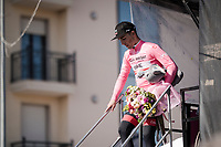 Valerio Conti (ITA/UAE-Emirates) is the new Maglia Rosa / overall leader<br /> <br /> Stage 6: Cassino to San Giovanni Rotondo (233km)<br /> 102nd Giro d'Italia 2019<br /> <br /> ©kramon