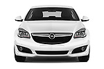 Car photography straight front view of a 2016 Opel Insignia Cosmo 5 Door hatchback Front View