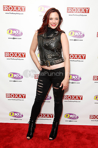 Jessica Sutta, from The Pussycat Dolls, portrait taken at Q 102's iHeart Performance Theater in Bala Cynwyd, Pa on March 23, 2012  © Star Shooter / MediaPunchInc