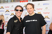 Don Jamieson and Eddie Trunk of That Metal Show walk the Black Carpet at the Revolver Golden Gods Awards presented by Epiphone held at Club Nokia in Los Angeles, CA USA on May 2, 2013. Photo © Kevin Estrada / IconicPix