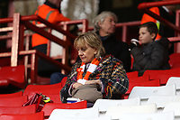 Blackpool fans enjoy the match atmosphere<br /> <br /> Photographer David Shipman/CameraSport<br /> <br /> The EFL Sky Bet League One - Charlton Athletic v Blackpool - Saturday 16th February 2019 - The Valley - London<br /> <br /> World Copyright © 2019 CameraSport. All rights reserved. 43 Linden Ave. Countesthorpe. Leicester. England. LE8 5PG - Tel: +44 (0) 116 277 4147 - admin@camerasport.com - www.camerasport.com