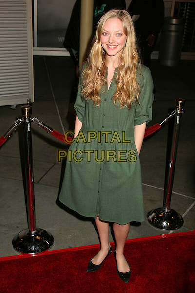 """AMANDA SEYFRIED .""""Starter For 10"""" Los Angeles Premiere at ArcLight Cinemas, Hollywood, California, USA..February 6th, 2007.full length green dress .CAP/ADM/BP.©Byron Purvis/AdMedia/Capital Pictures"""