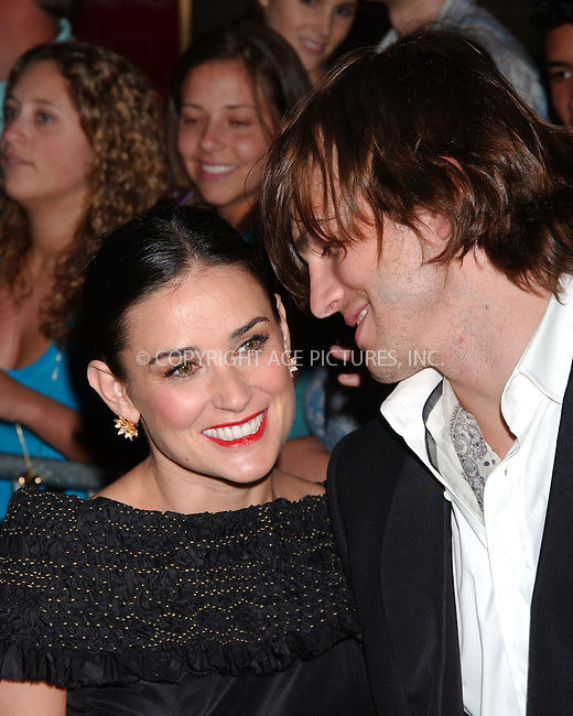 WWW.ACEPIXS.COM . . . . . ....June 22 2007, New York City....Actor Ashton Kutcher and Actress Demi Moore arriving at the ''Live Free Or Die Hard'' Premiere at Radio City Music Hall in midtown Manhattan.....Please byline: KRISTIN CALLAHAN - ACEPIXS.COM.. . . . . . ..Ace Pictures, Inc:  ..(646) 769 0430..e-mail: info@acepixs.com..web: http://www.acepixs.com