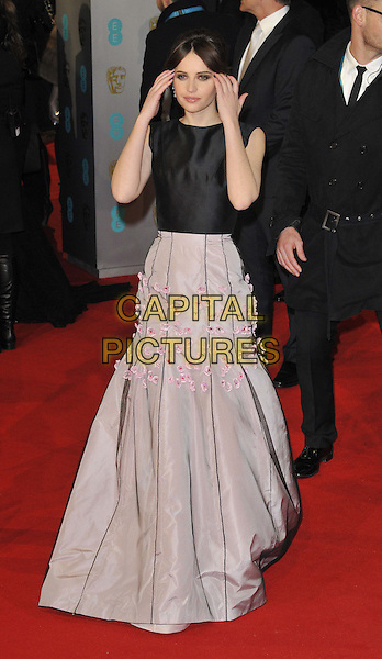LONDON, ENGLAND - FEBRUARY 08: Felicity Jones attends the EE British Academy Film Awards 2015, Royal Opera House, Covent Garden, on Sunday February 08, 2015 in London, England, UK. <br /> CAP/CAN<br /> &copy;Can Nguyen/Capital Pictures