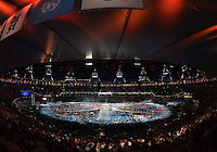 August 12, 2012..Athlete from participating nations join the festivities during closing ceremony at the Olympic Stadium on the last day of 2012 Olympic Games in London, United Kingdom.
