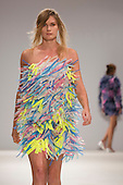London, UK. 12 September 2014. A model walks the runway at the Joao Melo Costa show (Barros & Costa) at London Fashion Week SS15 at Fashion Scout in London, England. Photo: CatwalkFashion/Alamy Live News