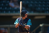 Tyler Freeman (2) of the Lynchburg Hillcats at bat against the Winston-Salem Rayados at BB&T Ballpark on June 23, 2019 in Winston-Salem, North Carolina. The Hillcats defeated the Rayados 12-9 in 11 innings. (Brian Westerholt/Four Seam Images)