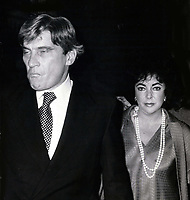 CelebrityArchaeology.com<br /> New York City<br /> 1986 FILE PHOTO<br /> Liz Taylor husband John Warner <br /> Photo By John Barrett-PHOTOlink.net