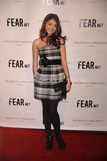 WWW.ACEPIXS.COM . . . . .....October 30, 2008. New York City.....Actress Sarah Hyland attends Fearnets's 2nd Anniversary Party held at the Cellar Bar at The Bryant Park Hotel on October 30, 2008 in New York City...  ....Please byline: Kristin Callahan - ACEPIXS.COM..... *** ***..Ace Pictures, Inc:  ..Philip Vaughan (646) 769 0430..e-mail: info@acepixs.com..web: http://www.acepixs.com