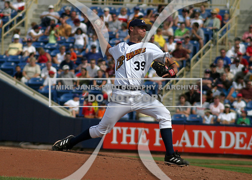 August 24, 2003:  Pitcher Reid Casey of the Lake County Captains during a game at Classic Park in Eastlake, Ohio.  Photo by:  Mike Janes/Four Seam Images