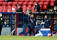 7th July 2020; Selhurst Park, London, England; English Premier League Football, Crystal Palace versus Chelsea; Chelsea Manager Frank Lampard screaming at his players from the touchline to push forward during extra time in the 2nd half