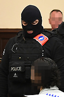 Salah Abdeslam & Sofien Ayari 1st day trial in Brussels - Belgium