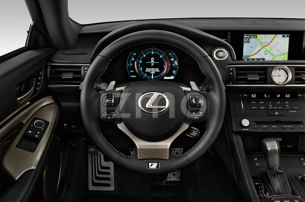 Car pictures of steering wheel view of a 2015 Lexus RC F Sport 2 Door Coupe 2WD Steering Wheel