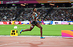 Shaunae MILLER-UIBO (BAH) in the womens 400m semi-final. IAAF world athletics championships. London Olympic stadium. Queen Elizabeth Olympic park. Stratford. London. UK. 07/08/2017. ~ MANDATORY CREDIT Garry Bowden/SIPPA - NO UNAUTHORISED USE - +44 7837 394578