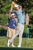 Bethesda, MD - July 1, 2017: Danny Lee tee shot at the 16th hole during Round 3 of professional play at the Quicken Loans National Tournament at TPC Potomac in Bethesda, MD, July 1, 2017.  (Photo by Elliott Brown/Media Images International)