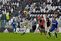 1st December 2019; Allianz Stadium, Turin, Italy; Serie A Football, Juventus versus Sassuolo; Cristiano Ronaldo of Juventus attempts a shot lon goal with a bicycle kick - Editorial Use