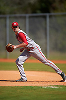 Indiana Hoosiers first baseman Luke Miller (32) during practice before a game against the Illinois State Redbirds on March 4, 2016 at North Charlotte Regional Park in Port Charlotte, Florida.  Indiana defeated Illinois State 14-1.  (Mike Janes/Four Seam Images)