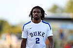 BROWNS SUMMIT, NC - SEPTEMBER 16: Duke's Carter Manley. The University of North Carolina Tar Heels hosted the Duke University Blue Devils on September 16, 2017 at Macpherson Stadium in Browns Summit, NC in a Division I college soccer game. UNC won the game 2-1.
