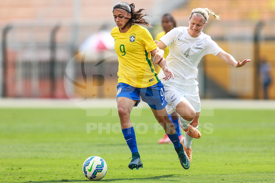 SÃO PAULO, SP, 28.11.2015 - BRASIL-NOVA ZELANDIA -  Andressa Alves da seleção brasileira durante partida contra a Nova Zelandia em amistoso internacional no Estadio Paulo Machado de Carvalho, o Pacaembu na região oeste de São Paulo, neste sábado 28. (Foto: William Volcov/Brazil Photo Press)