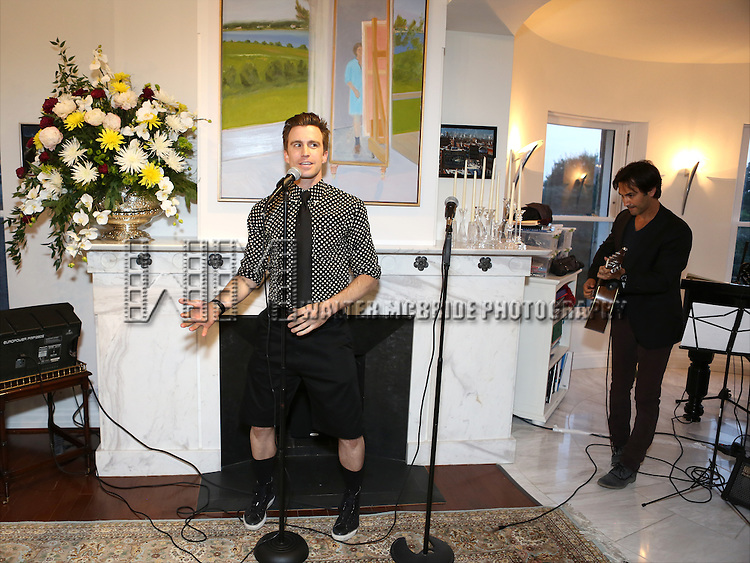 Gavin Creel and Robbie Routh perform at 'Parlor Night' A benefit evening for The Broadway Inspirational Voices Outreach Program at the home of Roy and Jenny Neiderhoffer on June 22, 2015 in New York City.