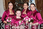 Bridesmaids at the wedding of Breda Murphy and Paul Flanagan on New Year Day in the Ballygarry House Hotel and Spa l-r: Maria Reidy, Aisling Moriarty, Breda Jones and Maura Lyons.