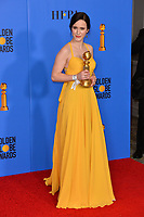 LOS ANGELES, CA. January 06, 2019: Rachel Brosnahan at the 2019 Golden Globe Awards at the Beverly Hilton Hotel.<br /> Picture: Paul Smith/Featureflash