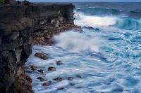 Storm waves off Hawaii, the big island.