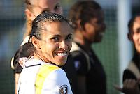 Marta smiles after an LA Sol victory. .LA Sol 2-0, over FC Gold, Sunday, May 24, 2009, at Buck Shaw Stadium, in Santa Clara, California.