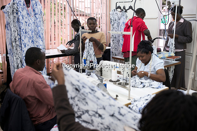 NAIROBI, KENYA – OCTOBER 28: Workers make clothes at Panah Limited, a fashion production house providing production for global and African emerging fashion brands Nairobi, Kenya on October 28, 2015. (Photo by: Per-Anders Pettersson)