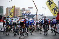 start of the Elite Women's Race<br /> <br /> 2015 UCI World Championships Cyclocross <br /> Tabor, Czech Republic