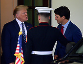 United States President Donald J. Trump participates in the departure of Prime Minister Justin Trudeau of Canada at the Diplomatic Entrance of the White House in Washington, DC on Thursday, June 20, 2019.<br /> Credit: Ron Sachs / CNP